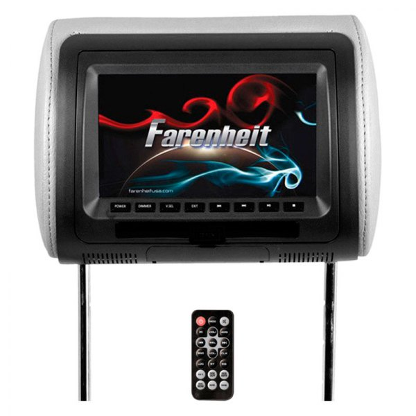 power acoustik 174 hrd71cc 7 quot farenheit replacement headrest tft monitor with built in dvd player