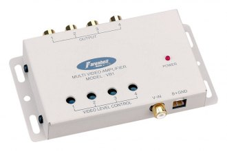 Power Acoustik® - Video Signal Booster with 2 Inputs and 4 Outputs