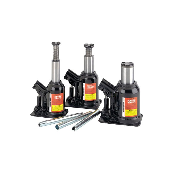 "Power Team® - 12 Ton 3-3/4"" Stroke Low Profile Bottle Jack"