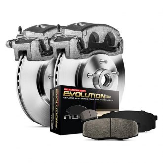 Power Stop® - 1-Click Autospecialty OE Replacement Plain Brake Kit with Calipers