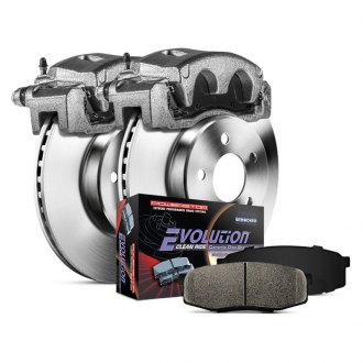 Power Stop® - 1-Click Autospecialty OE Replacement Plain Rear Brake Kit with Calipers