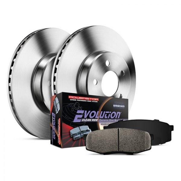 Power Stop® - 1-Click Autospecialty OE Replacement Plain Brake Kit