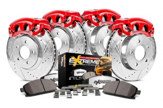PowerStop® KC2168-36 - 1-Click Extreme Z36 Truck and Tow Vented Drilled and Slotted Front and Rear Brake Kit
