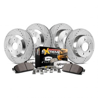 Power Stop® - 1-Click Extreme Z36 Truck and Tow Drilled and Slotted Front and Rear Brake Kit