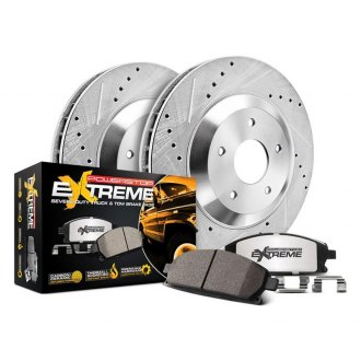 Power Stop® - 1-Click Extreme Z36 Truck and Tow Drilled and Slotted Front Brake Kit