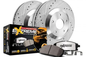 Power Stop® - 1-Click Extreme Z36 Truck and Tow Drilled and Slotted Front Brake Kit without Calipers