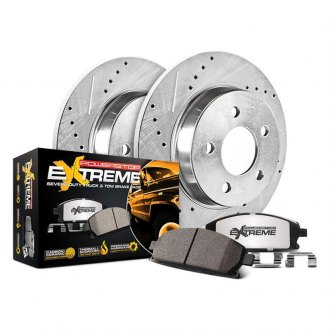 Power Stop® - 1-Click Extreme Z36 Truck and Tow Drilled and Slotted Rear Brake Kit
