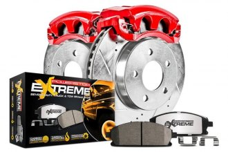 PowerStop® KC1890A-36 - 1-Click Extreme Z36 Truck and Tow Drilled and Slotted Rear Brake Kit