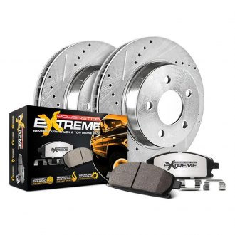 PowerStop® - 1-Click Extreme Z36 Truck and Tow Drilled and Slotted Rear Brake Kit