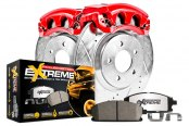 PowerStop® - 1-Click Extreme Z36 Truck and Tow Drilled and Slotted Brake Kit with Calipers