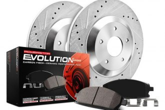 PowerStop® K2560 - 1-Click Z23 Evolution Sport Solid Drilled and Slotted Front Brake Kit