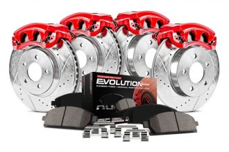 Power Stop® - 1-Click Z23 Evolution Sport Drilled and Slotted Front and Rear Brake Kit with Calipers