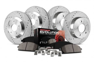 PowerStop® K2387 - 1-Click Z23 Evolution Sport Drilled and Slotted Front and Rear Brake Kit