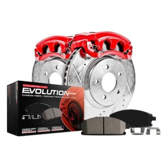 Power Stop® - 1-Click Z23 Evolution Sport Drilled and Slotted Front Brake Kit with Calipers