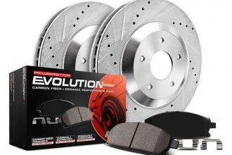 PowerStop® - 1-Click Z23 Evolution Sport Drilled and Slotted Front Brake Kit