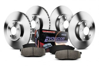 PowerStop® KOE2315 - 1-Click Autospecialty OE Replacement Plain Front and Rear Brake Kit