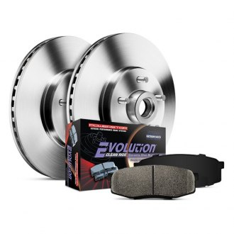 Power Stop® - 1-Click Autospecialty OE Replacement Plain Front Brake Kit