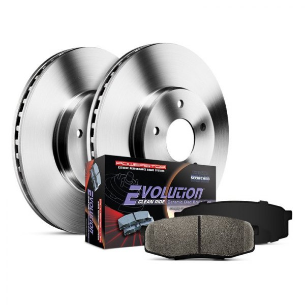 Power Stop® - 1-Click Autospecialty OE Replacement Plain Front Brake Kit without Calipers