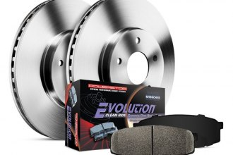 PowerStop® - 1-Click Autospecialty OE Replacement Plain Front Brake Kit