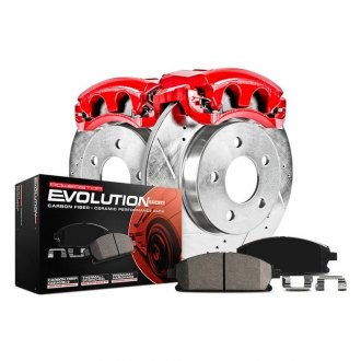 Power Stop® - 1-Click Z23 Evolution Sport Drilled and Slotted Rear Brake Kit with Calipers