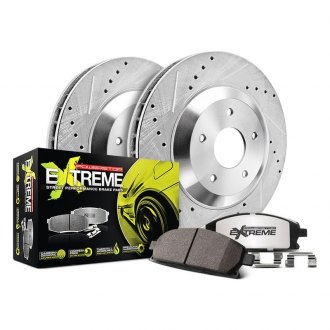 Power Stop® - 1-Click Street Warrior Z26 Drilled and Slotted Front Brake Kit