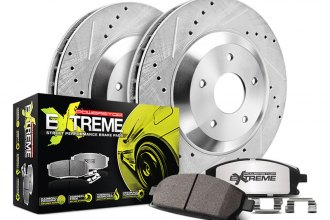 PowerStop® - 1-Click Street Warrior Z26 Drilled and Slotted Brake Kit