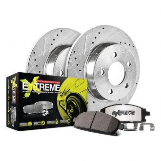Power Stop® - 1-Click Street Warrior Z26 Drilled and Slotted Rear Brake Kit