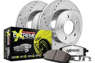 PowerStop® K447-26 - 1-Click Street Warrior Z26 Solid Drilled and Slotted Rear Brake Kit