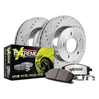 PowerStop® - 1-Click Street Warrior Z26 Drilled and Slotted Rear Brake Kit