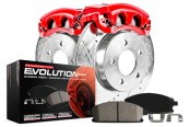 PowerStop® - 1-Click Z23 Evolution Sport Drilled and Slotted Brake Kit with Calipers