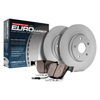Power Stop® - Euro-Stop™ Premium Plain Rear Brake Kit