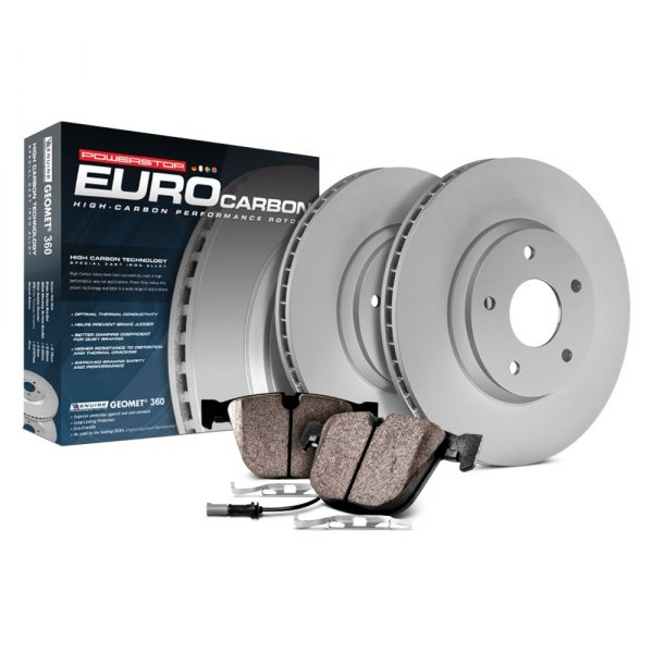 Power Stop® - Euro-Stop™ Premium Plain Front Brake Kit