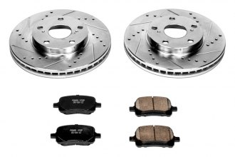 PowerStop® K1058 - 1-Click Vented Front Brake Kit W/O Calipers (275mm OD, PCD: 5x114.30)
