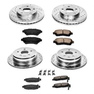 PowerStop® - 1-Click Vented Front and Rear Brake Kit W/O Calipers
