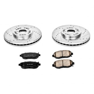 PowerStop® - 1-Click Vented Front Brake Kit W/O Calipers