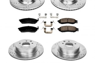 PowerStop® K114 - 1-Click Z23 Evolution Sport Drilled and Slotted Front and Rear Brake Kit