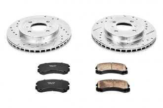 PowerStop® K1215 - 1-Click Z23 Evolution Sport Vented Drilled and Slotted Front Brake Kit