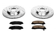 PowerStop® K1437 - 1-Click Vented Front Brake Kit W/O Calipers (303mm OD, PCD: 5x115)