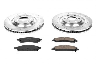 PowerStop® K1449 - 1-Click Vented Front Brake Kit W/O Calipers (322.80mm OD, PCD: 6x115)