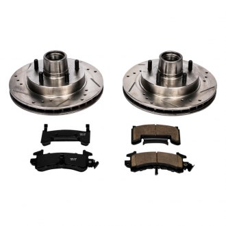 PowerStop® - 1-Click Vented Front Hub and Rotor Assemblies Brake Kit W/O Calipers