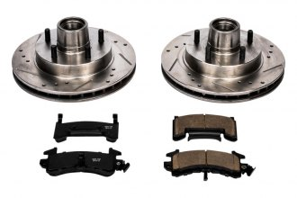PowerStop® K1482 - 1-Click Vented Front Hub and Rotor Assemblies Brake Kit W/O Calipers (267mm OD, PCD: 5x120.65)