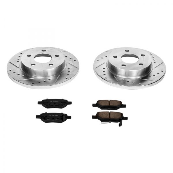 PowerStop® - 1-Click Solid Rear Brake Kit W/O Calipers