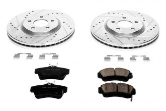 PowerStop® K1706 - 1-Click Z23 Evolution Sport Vented Drilled and Slotted Front Brake Kit