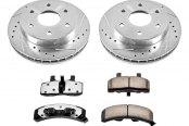 PowerStop® - 1-Click Extreme Z36 Truck and Tow Vented Drilled and Slotted Front Brake Kit w/o Calipers