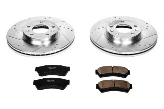 PowerStop® K199 - 1-Click Z23 Evolution Sport Vented Drilled and Slotted Front Brake Kit