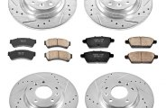 PowerStop® K200 - 1-Click Front and Rear Brake Kit W/O Calipers (Front: 299mm, Rear: 280mm OD, PCD: Front: 5x114.30, Rear: 5x114.30)