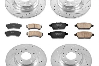 PowerStop® K200 - 1-Click Z23 Evolution Sport Drilled and Slotted Front and Rear Brake Kit