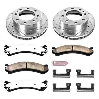 PowerStop® - 1-Click Vented Extreme Truck and Tow Front Brake Kit W/O Calipers