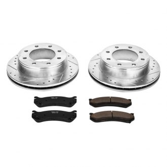 PowerStop® - 1-Click Vented Rear Brake Kit W/O Calipers
