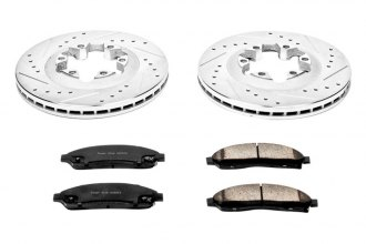 PowerStop® - 1-Click Vented Front Hub and Rotor Assemblies Brake Kit